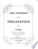 Cours élémentaire de Philosophie