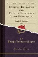 download ebook englisch-deutsches und deutsch-englisches hand-wörterbuch, vol. 1 pdf epub