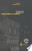 Matematica e cultura 2003