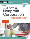 How to Form a Nonprofit Corporation  National Edition