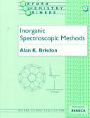 Inorganic Spectroscopic Methods