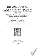 Life and times of Ambroise Par    1510 1590