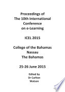 ICEL2015-10th International Conference On E-Learning : 10th international conference on e-learning (icel...