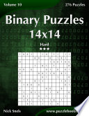 Binary Puzzles 14x14   Hard   Volume 10   276 Puzzles