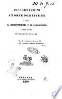 Dissertazioni storico   critiche sopra il romanticismo e il classicismo dell abate Ferdinando Orlandi