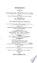 Memoirs of the Life of Charles Macklin