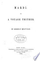 Mardi   and a Voyage Thither Book PDF