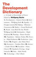 The Development Dictionary Book