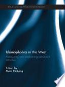 Islamophobia in the West A Muslim Cultural Background And Increasing Islamic Fundamentalism