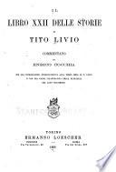 Il libro i  ii  xxi  xxii delle storie di Tito Livio