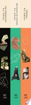 Three Book Sebald Set  The Emigrants  The Rings of Saturn  and Vertigo