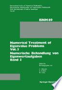 Numerical Treatment of Eigenvalue Problems Vol. 3 / Numerische Behandlung von Eigenwertaufgaben Band 3