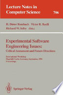Experimental Software Engineering Issues