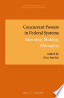 Concurrent Powers in Federal Systems