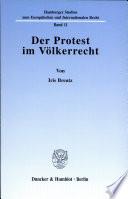 Der Protest im Völkerrecht
