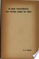 De Beide Volksverhalen Van Papyrus Harris 500 Verso