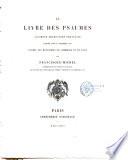 Le livre des psaumes ancienne traduction fran  aise