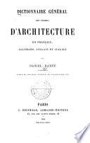 Dictionnaire Général des termes d'architecture