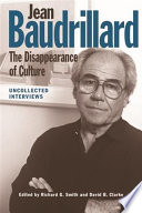 Jean Baudrillard  The Disappearance of Culture