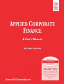 Applied Corporate Finance A User S Manual 2nd Ed