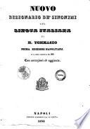 Nuovo dizionario de  sinonimi della lingua italiana di N  Tommaseo