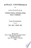 Annali universali di viaggi, geografia, storia, economia pubblica e statistica