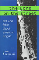 The Word on the Street Regions And Argues That Language
