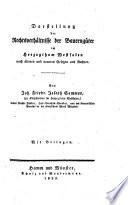 Darstellung der Rechtsverhältnisse der Bauerngüter im Herzogthum Westfalen