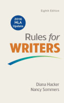 Rules for Writers with 2016 MLA Update