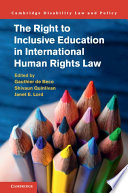 Right to inclusive education in international human rights law document cover