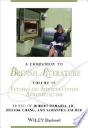 A Companion to British Literature  Volume 4
