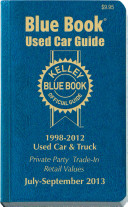Kelley Blue Book Used Car Guide  July   Sept 2013