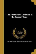 FUNCTION OF CRITICISM AT THE P