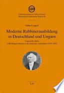 Moderne Rabbinerausbildung in Deutschland und Ungarn