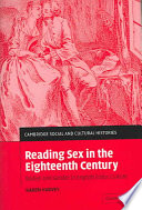 Reading Sex in the Eighteenth Century