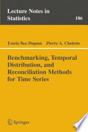 Benchmarking  Temporal Distribution  and Reconciliation Methods for Time Series