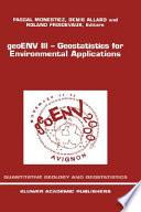 geoENV III — Geostatistics for Environmental Applications
