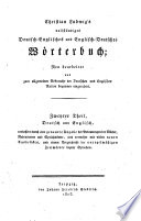 Christian Ludwig's Complete Dictionary, English and German, and German and English