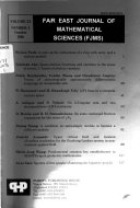 Far East Journal of Mathematical Sciences
