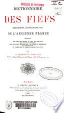 Dictionnaire des fiefs