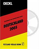 Taschenbuch des Öffentlichen Lebens Deutschland 2005. Mit CD-ROM.