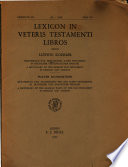 Lexicon in Veteris Testamenti Libros