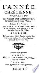 Tome VIII. Qui comprend les Messes depuis le troisiéme Dimanche après la Pentecôte, jusqu'au septiéme Dimanche d'après cette Fête