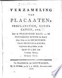Verzameling van placaaten  decreeten  besluiten  bekendmakingen  enz