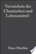Verzeichnis der Chemischen und Lebensmittel- Untersuchungsämter in der Bundesrepublik Deutschland