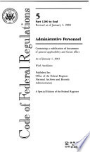 L.S.A., List Of C.F.R. Sections Affected : ...