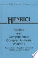 Applied and Computational Complex Analysis  Power Series Integration Conformal Mapping Location of Zero