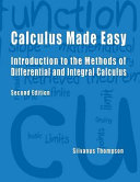 Calculus Made Easy   Second Edition