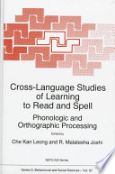 Cross Language Studies of Learning to Read and Spell