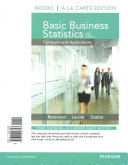Basic Business Statistics   New Mystatlab With Pearson Etext Access Card Package